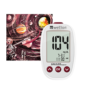 The Wellion GALILEO Compact Blood Glucose Meter is small, handy and fits perfectly in any pocket.