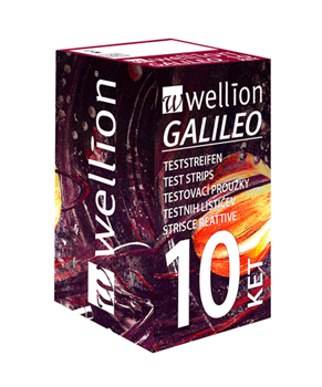 Wellion GALILEO ketone test strips packaging