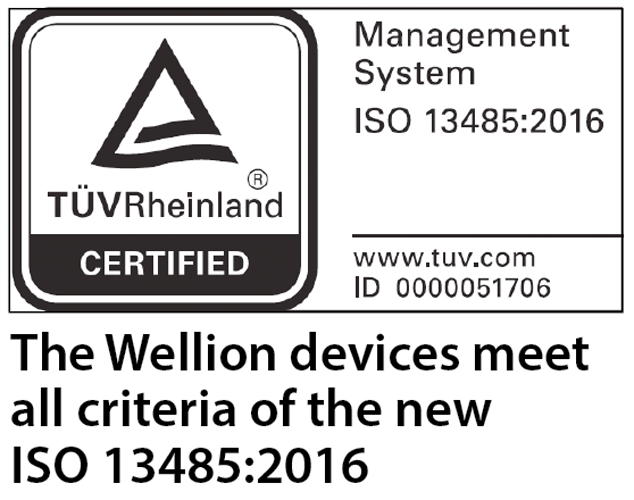 Wellion meters comply with ISO 13485:2016