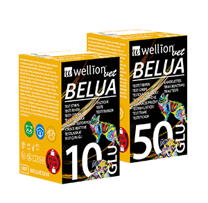 WellionVet BELUA blood glucose test strips for dogs, cats and cows