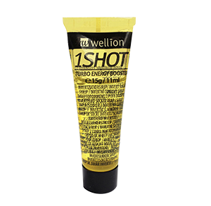 Wellion 1SHOT Invert sugar syrup - the perfect energy shot at the right time. Immediate and longterm effect due to 3 different types of sugar (glucose, saccharose, fructose). Pleasant vanilla taste. Picture tube
