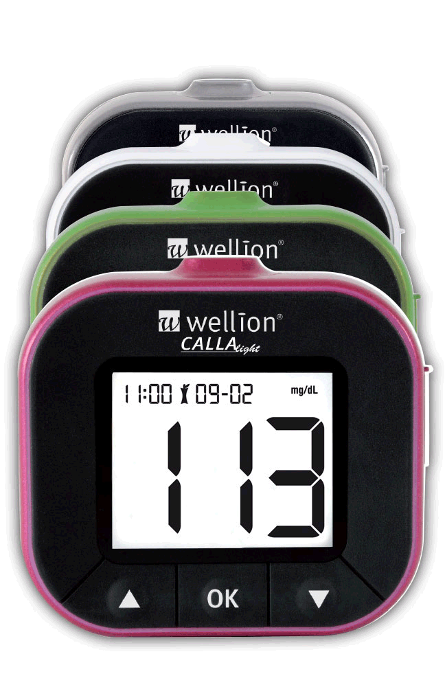 Wellion CALLA Light blood glucose meter, 4 colours
