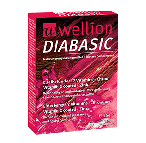 Wellion DIABASIC food supplement packaging