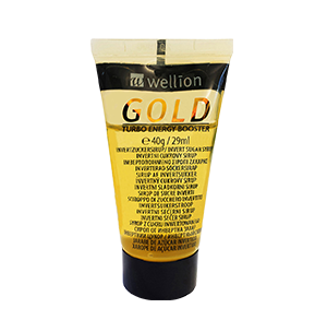 Wellion GOLD Invert sugar syrup is easy to handle and gives you energy very fast. Every tube is protected with a hygiene seal and can easily be reclosed by means of the screw cap. Pleasant vanilla taste. Picture