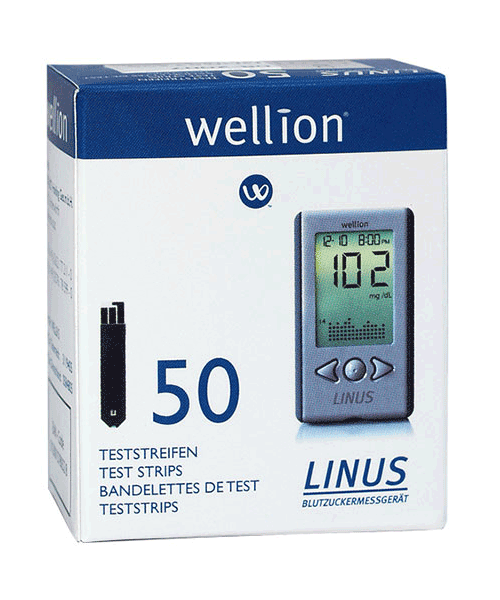 Wellion LINUS blood glucose teststrips