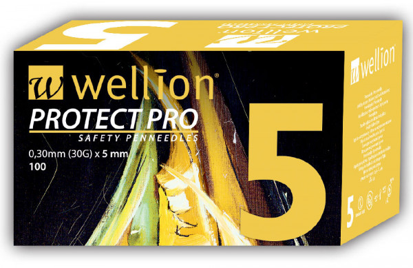 Wellion PROTECT PRO Safety Pennnadeln 5mm