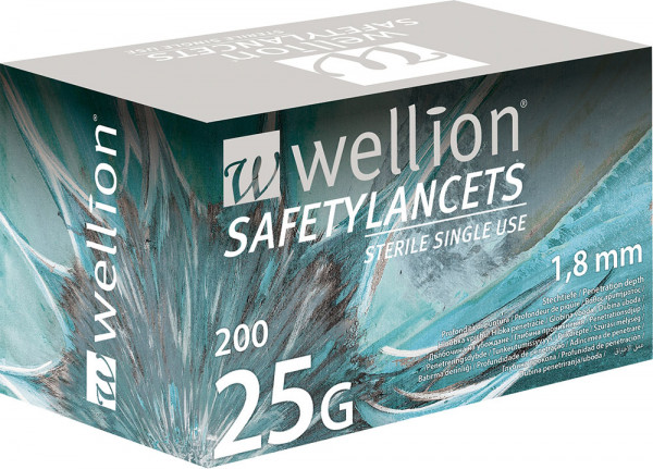 Wellion Sicherheitslanzetten 25G (Safetylancets)