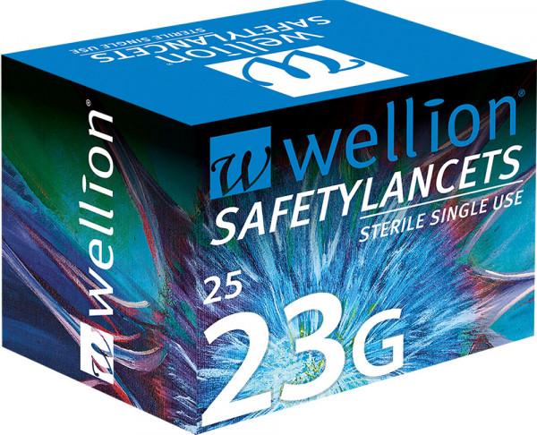 Wellion SafetyLancets 23G Einmalsicherheitslanzette (Hunde, Katzen, Pferde)