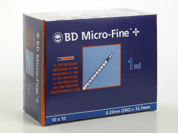 BD MicroFine+ 1,0ml, 100 Stk, 12,7 mm