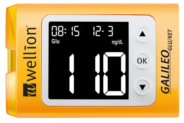 Wellion GALILEO GLU/KET Messgerät für Blutzucker und Cholesterin mit großem Display