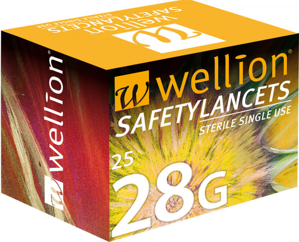 Wellion SafetyLancets 28G (Sicherheitslanzetten)
