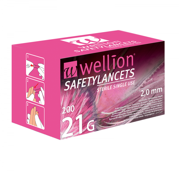 Wellion Sicherheitslanzetten 21G (Safetylancets)