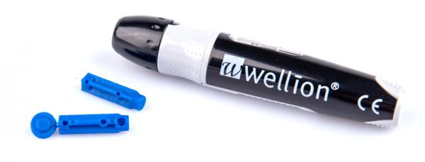 Wellion PRO2 Stechhilfe und Lanzetten