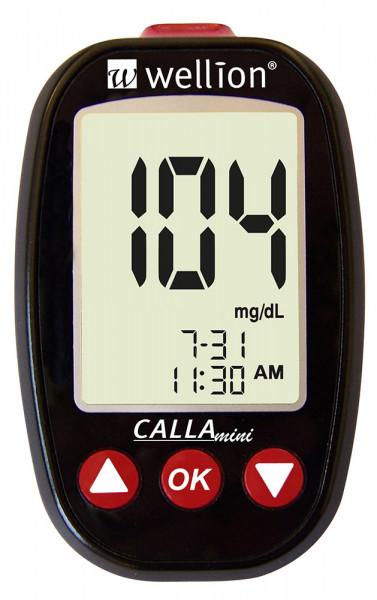 Das Wellion CALLA Mini Blutzuckermessgerät ist klein und handlich